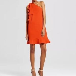 Victoria Beckham 4 Target Orange Scallops Dress M